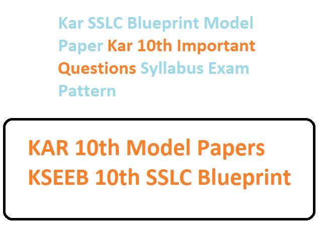 KAR SSLC Model Paper 2020 Karnataka 10th Questions Paper 2020