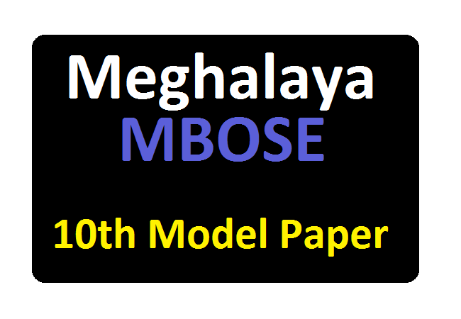 MBOSE 10th Model Paper 2020 Blueprint MBOSE SSLC Sample Paper 2020
