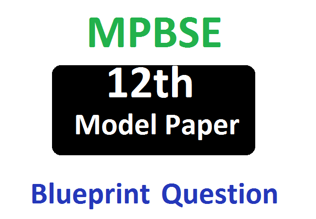MP 10th Blueprint Model Paper 2020 Important Question Syllabus Exam Pattern 2020 Hindi English Urdu