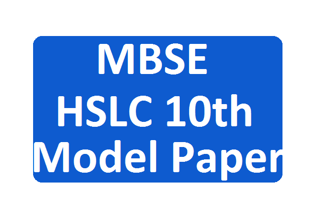 Mizoram Board 10th Model Paper 2020 Blueprint, MBSE HSLC Question Paper 2020