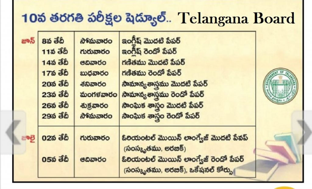 TS SSC 10th Model Paper 2021 Namasthe Telangana